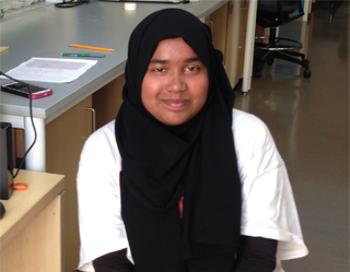 Fatima Rahman, Undergraduate Researcher